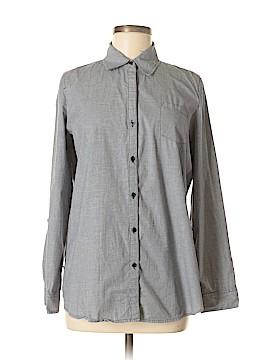 Zoe D. Long Sleeve Button-Down Shirt Size M