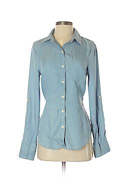 RACHEL Rachel Roy Long Sleeve Button-Down Shirt Size S