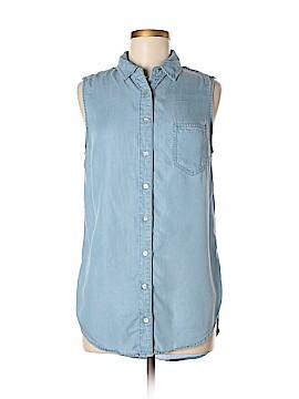 Chambrai Sleeveless Button-Down Shirt Size M