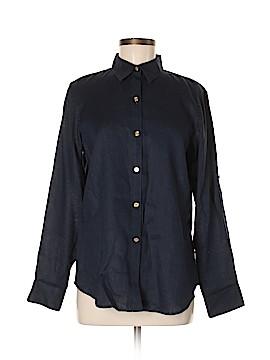 Chaps 3/4 Sleeve Button-Down Shirt Size M