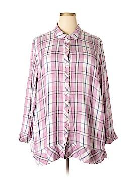 J.jill Long Sleeve Button-Down Shirt Size 4X (Plus)