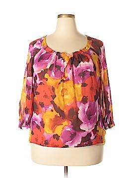 Jones New York 3/4 Sleeve Silk Top Size 16