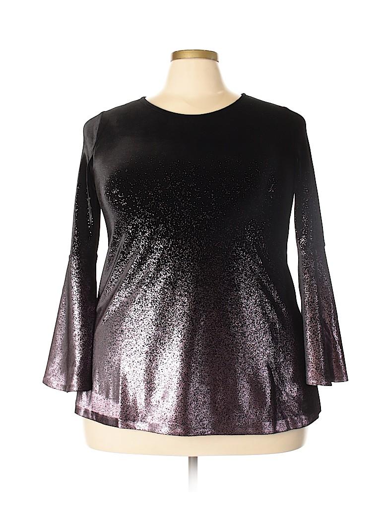 Alfani Women 3/4 Sleeve Blouse Size 1X (Plus)