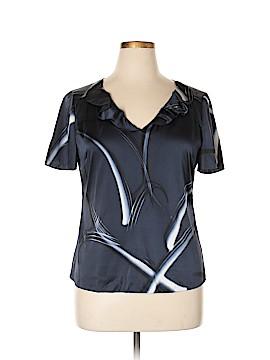 Elie Tahari for Nordstrom Short Sleeve Silk Top Size L