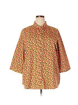 Lands' End 3/4 Sleeve Button-Down Shirt Size 24 (Plus)