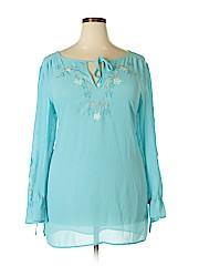 Worthington Women Long Sleeve Blouse Size 1X (Plus)