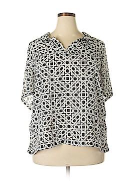 Kenar Short Sleeve Blouse Size 3X (Plus)