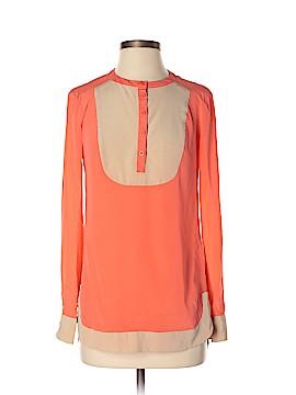 Bebe Long Sleeve Silk Top Size XS