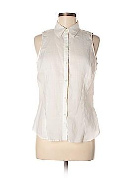 Zara Basic Sleeveless Button-Down Shirt Size L