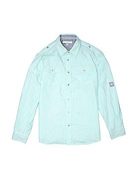 Pd&c Long Sleeve Button-Down Shirt Size 14 - 16