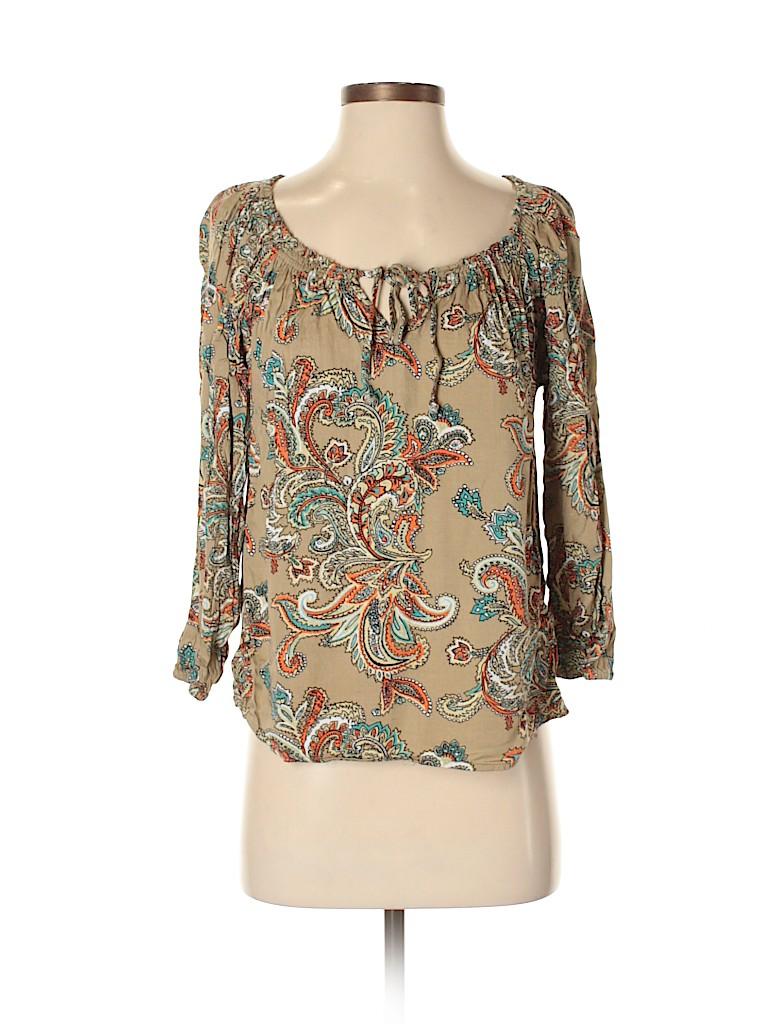 Mimi Chica Women 3/4 Sleeve Blouse Size XS
