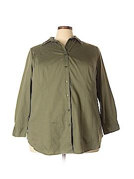 Foxcroft 3/4 Sleeve Button-Down Shirt Size 26 - 28 (Plus)