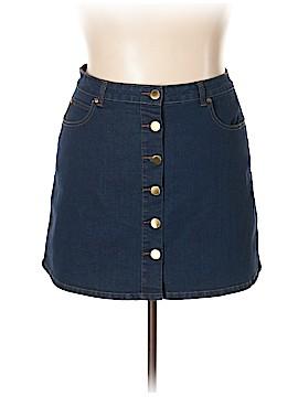 City Chic Denim Skirt Size 16 Plus (S) (Plus)