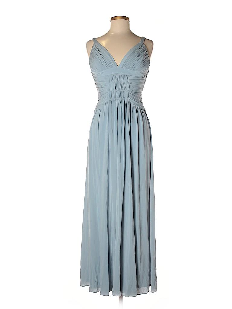 BCBGMAXAZRIA Solid Light Blue Casual Dress Size M - 80% off | thredUP