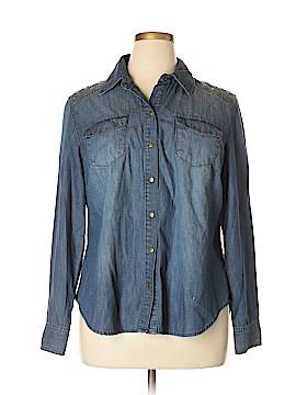 INC International Concepts Long Sleeve Button-Down Shirt Size 16