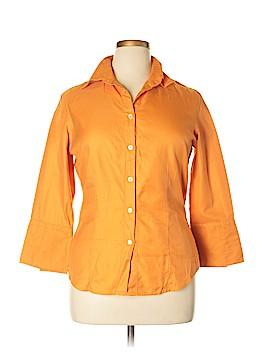 Farinaz Taghavi Long Sleeve Button-Down Shirt Size 14
