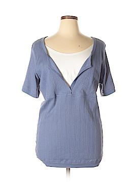 Mainstreet Blues Short Sleeve Top Size 1X (Plus)