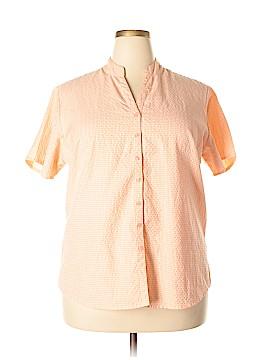 Krazy Kat Short Sleeve Button-Down Shirt Size 1X (Plus)