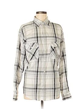 Haggar Long Sleeve Button-Down Shirt Size M