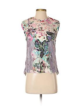 Nicole Miller Artelier Short Sleeve Silk Top Size S