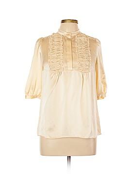 Vivienne Tam Short Sleeve Silk Top Size XL (4)