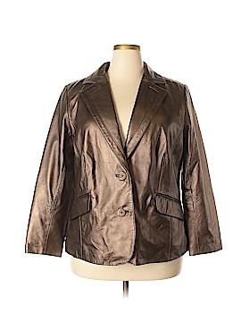 Alfani Leather Jacket Size 2X (Plus)