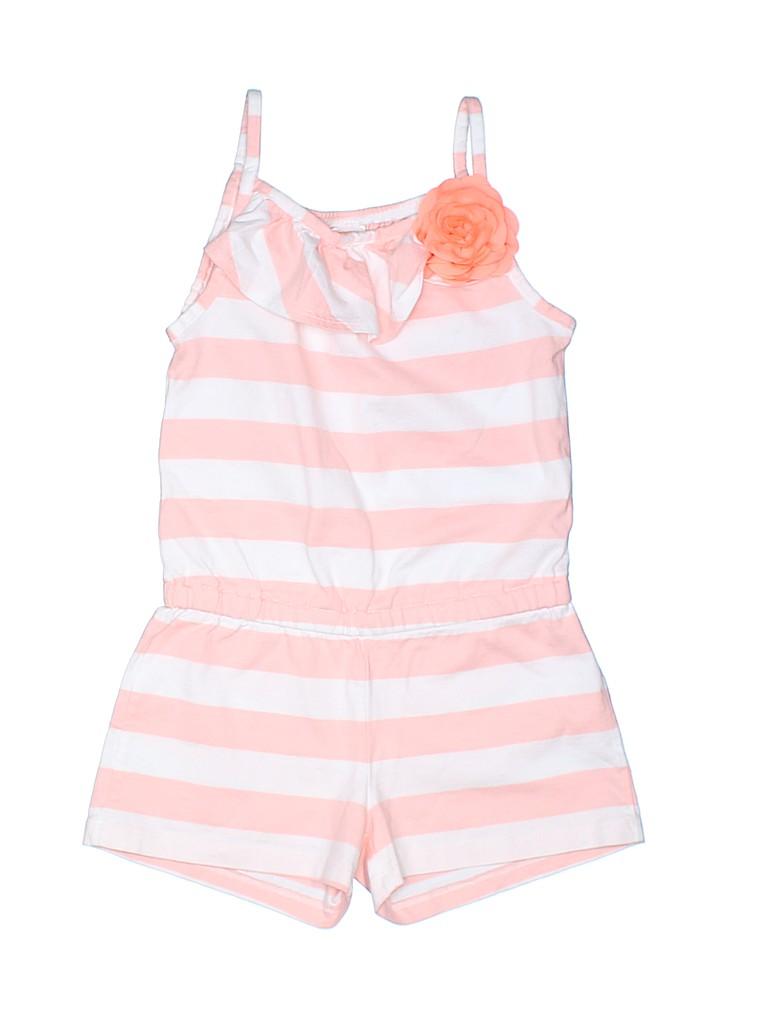 744cc3d590d Gymboree 100% Cotton Stripes Coral Romper Size 6 - 83% off