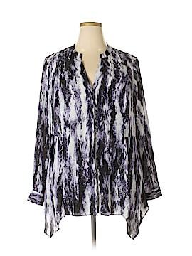 Simply Vera Vera Wang Long Sleeve Blouse Size 2X (Plus)