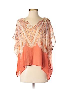 Maeve Short Sleeve Silk Top Size XXS (Petite)