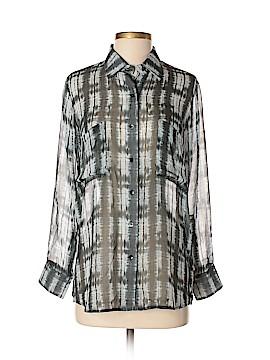 Dakota Collective Long Sleeve Silk Top Size XS