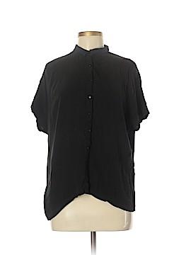 Zara Collection Short Sleeve Button-Down Shirt Size M