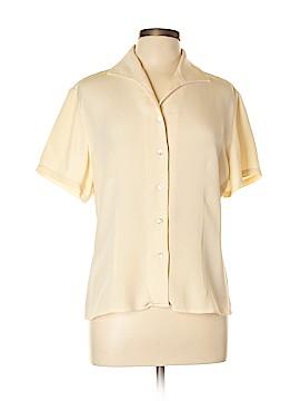INC International Concepts Short Sleeve Silk Top Size 10