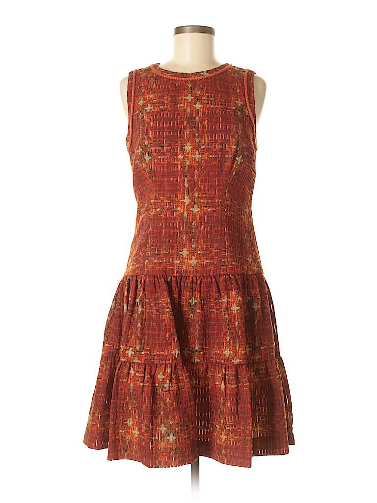fca23c3eab3a1 CH Carolina Herrera Print Orange Casual Dress Size 8 - 84% off   thredUP