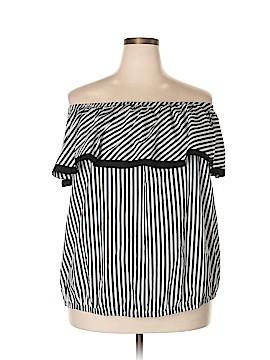 INC International Concepts Short Sleeve Blouse Size 3X (Plus)