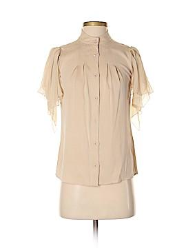 Alice + olivia Short Sleeve Silk Top Size XS