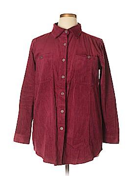 Roaman's Long Sleeve Button-Down Shirt Size 14 (M)
