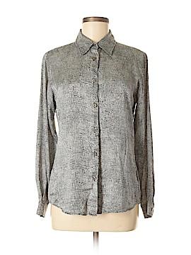 Rafaella Studio Long Sleeve Silk Top Size 8