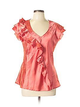 Sunny Leigh Short Sleeve Blouse Size L