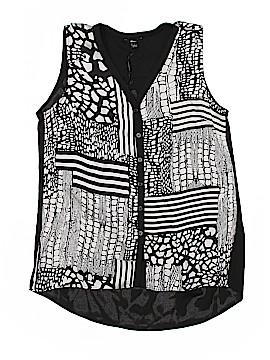 Milano Sleeveless Button-Down Shirt Size S