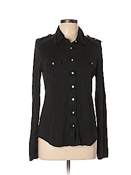 Tory Burch Long Sleeve Silk Top Size L