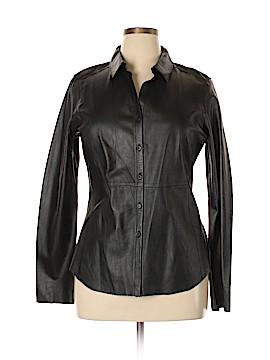Ecru Leather Jacket Size XL