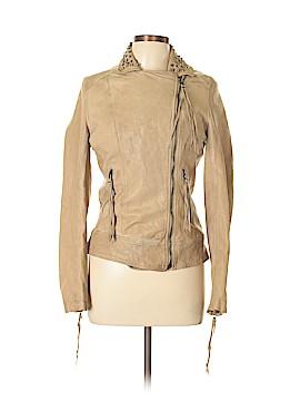 Wrap Leather Jacket Size 12 (UK)