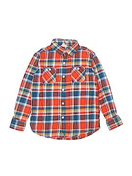 Lands' End Long Sleeve Button-Down Shirt Size M (Kids)