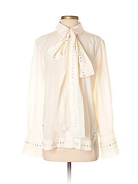 Chloé Long Sleeve Silk Top Size 38 (FR)