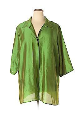 Venezia Short Sleeve Silk Top Size 26 - 28 (Plus)