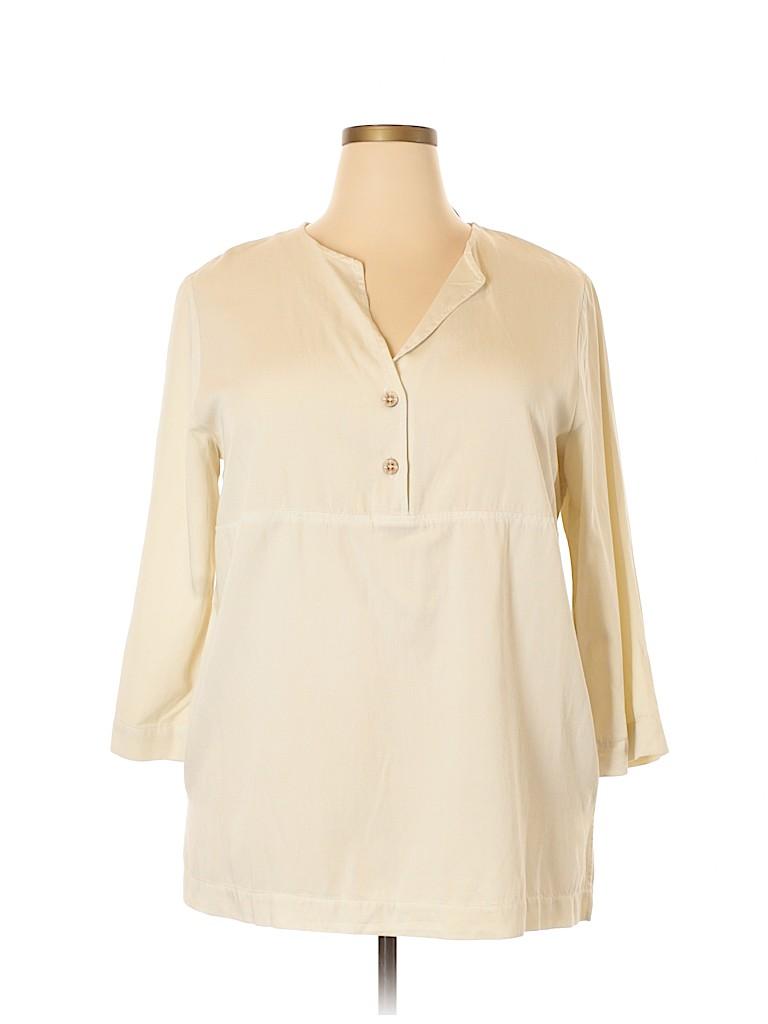 Hot Cotton Women 3/4 Sleeve Blouse Size XL