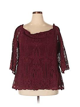 City Chic 3/4 Sleeve Button-Down Shirt Size 18 Plus (M) (Plus)