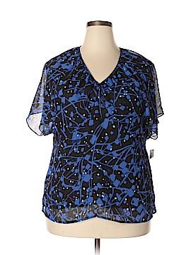 Kasper Short Sleeve Blouse Size 1X (Plus)