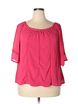 C.O.C. Short Sleeve Blouse Size 3X (Plus)