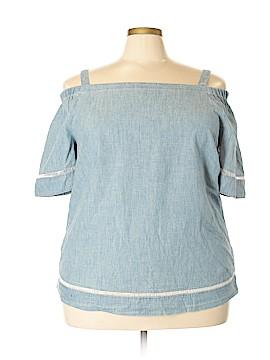 L-RL Lauren Active Ralph Lauren Short Sleeve Blouse Size 2X (Plus)